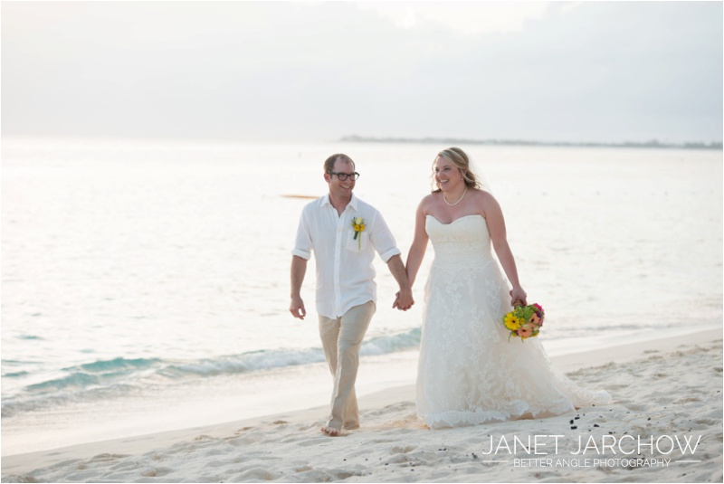 Grand Cayman Beach Wedding by Janet Jarchow of Better Angle Photography