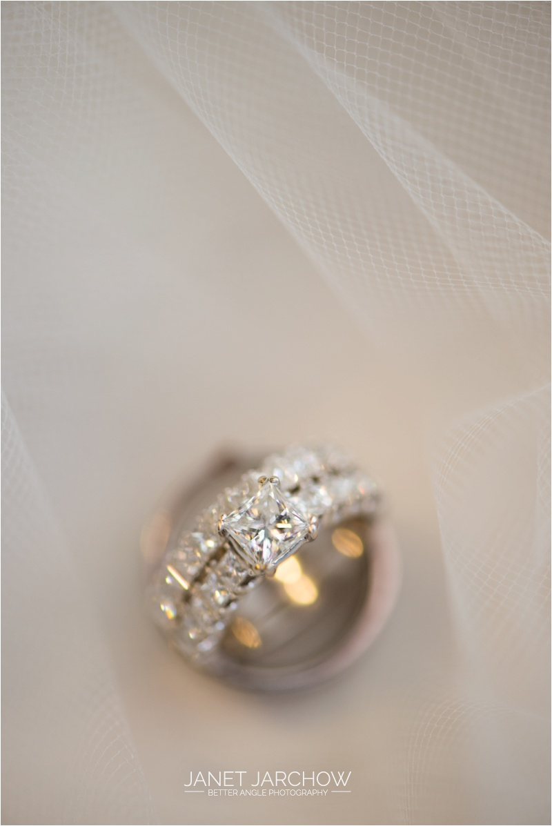 Sparkling wedding ring at a Cayman Wedding