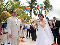 cayman wedding ball toss