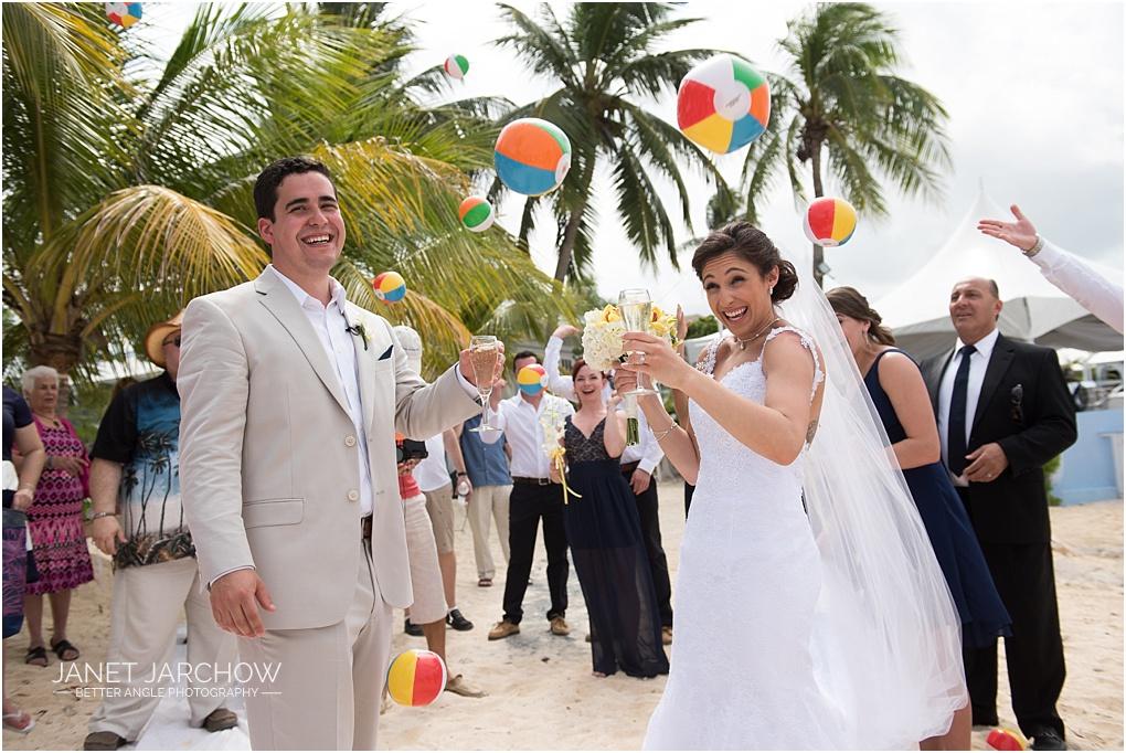 cayman wedding ball toss