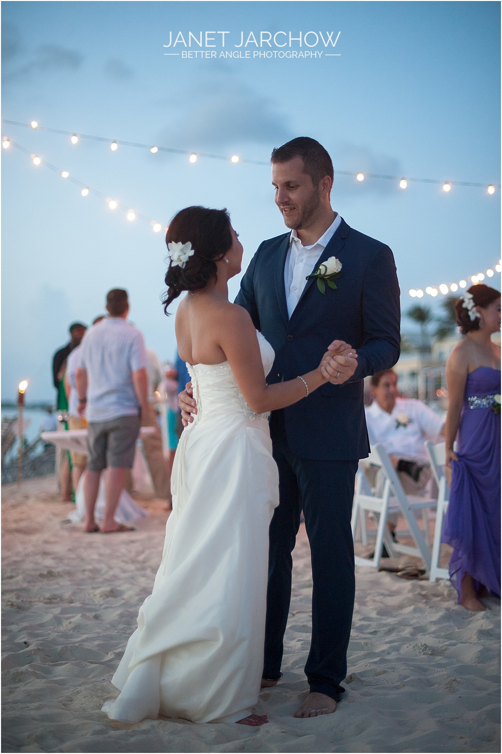 first dance on seven mile beach, grand cayman