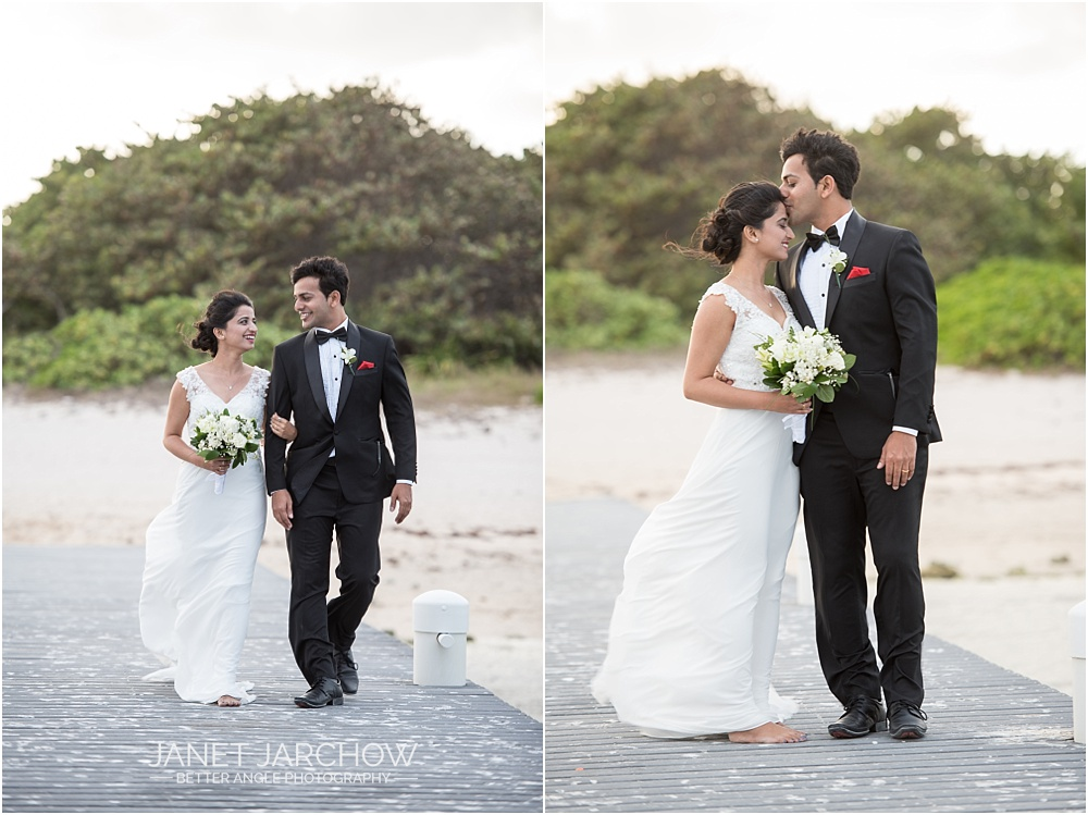 cayman islands wedding couple