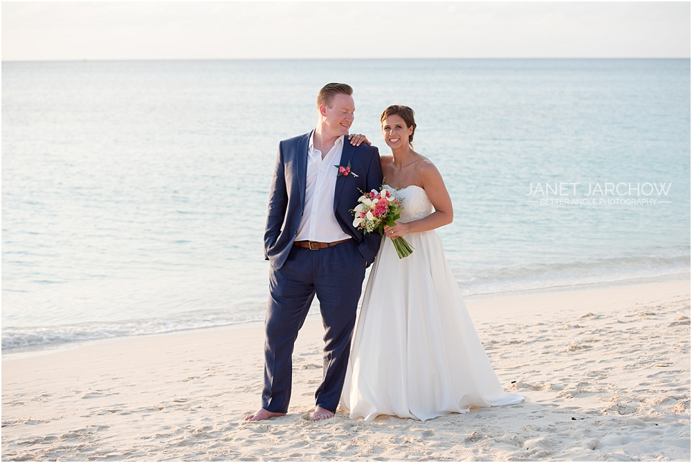 colorful beach wedding in grand cayman