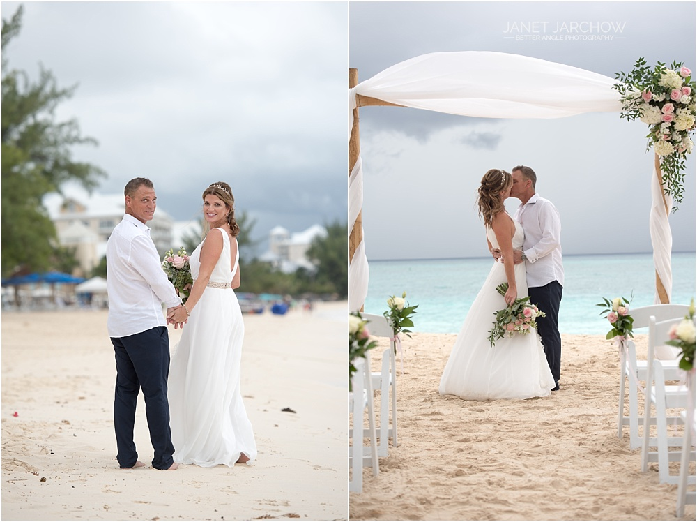 stylish westin grand cayman wedding